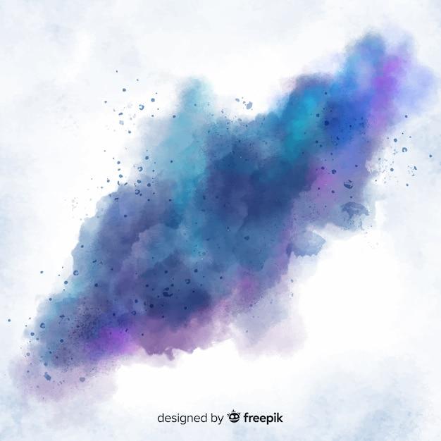 芸術的な抽象的な水彩染色の背景 無料ベクター