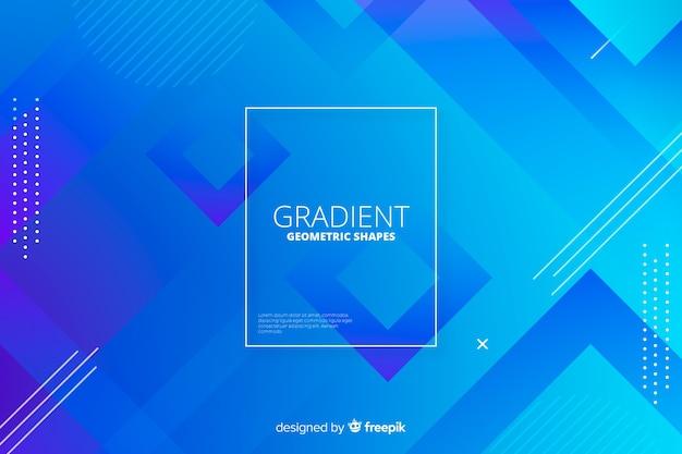 抽象的なグラデーションの幾何学的図形の背景 無料ベクター