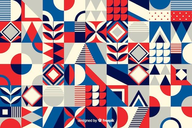 Красочный геометрический фон мозаики Бесплатные векторы