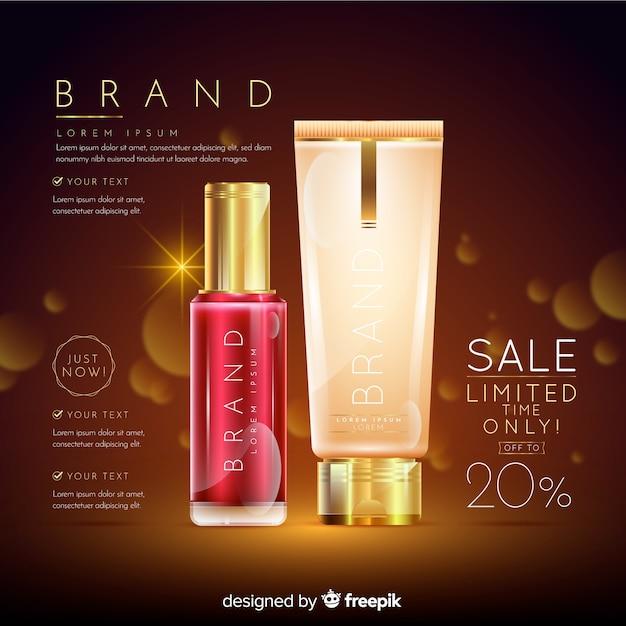 ランドリー化粧品販売リアル広告 無料ベクター