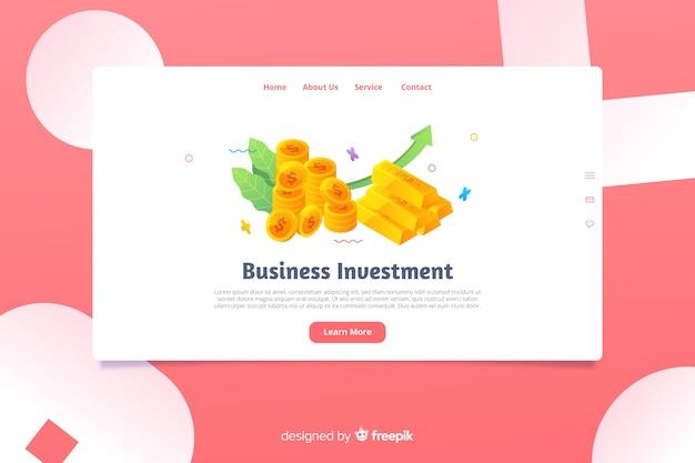 Шаблон целевой страницы изометрической бизнес Бесплатные векторы