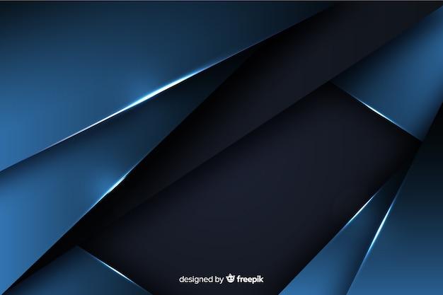 メタリック効果と濃い青の背景 無料ベクター