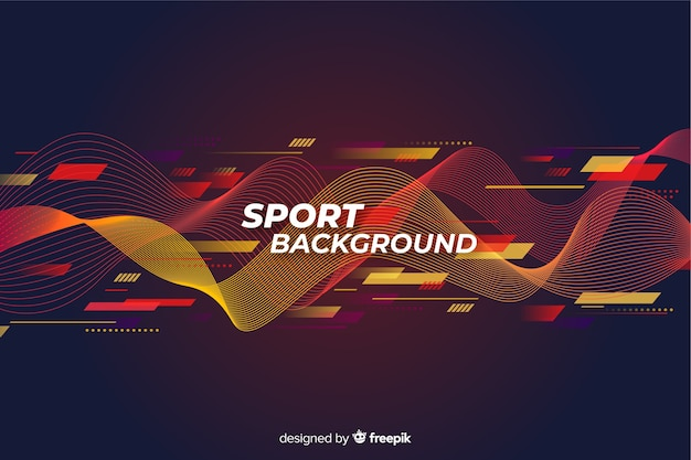 抽象的なスポーツ背景フラットデザイン 無料ベクター