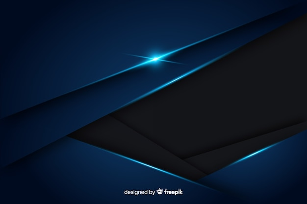 Абстрактный металлический синий декоративный фон Бесплатные векторы