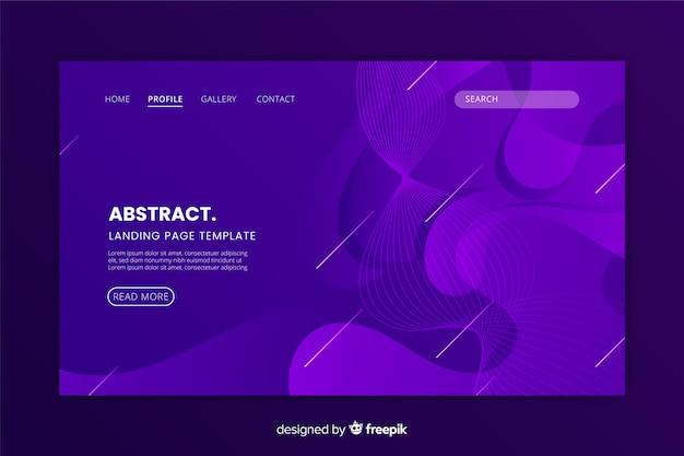 抽象的なモノクロランディングページフラットデザイン 無料ベクター