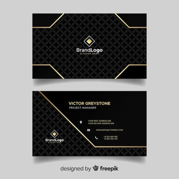 Плоский элегантный шаблон визитной карточки Бесплатные векторы