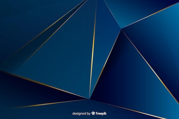 エレガントな暗い多角形の装飾的な背景 無料ベクター