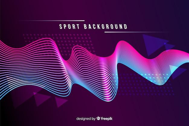 抽象的な形とスポーツの背景 無料ベクター