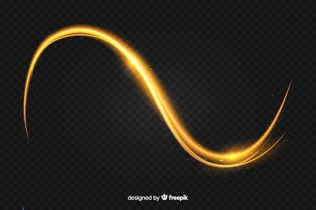 リアルな曲線光効果の背景 無料ベクター