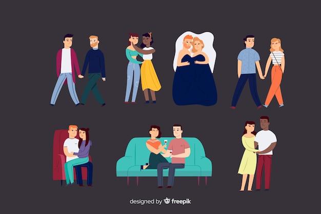 Влюбленные люди Бесплатные векторы