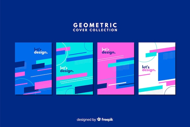 Дизайн чехлов в геометрическом стиле Бесплатные векторы