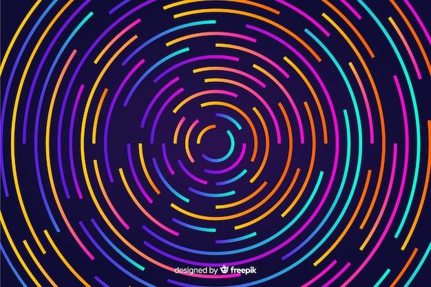 抽象的なネオンの形の背景 無料ベクター