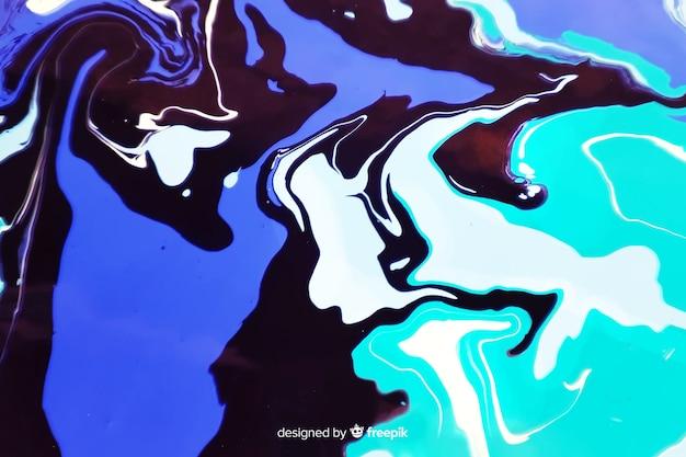 青いペンキ大理石のテクスチャ背景 無料ベクター