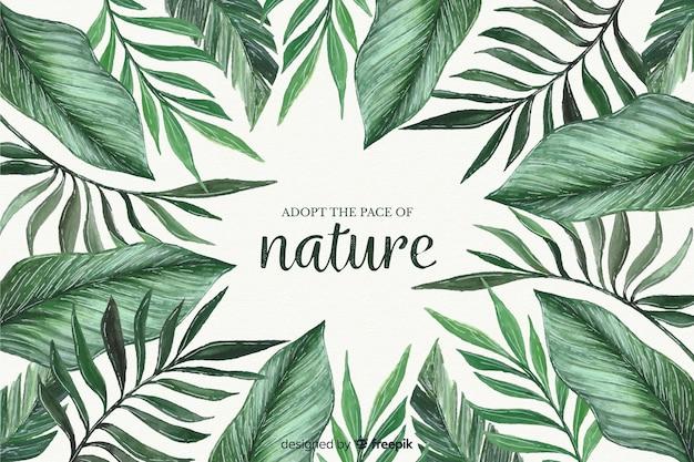 Природа фон с цитатой Premium векторы
