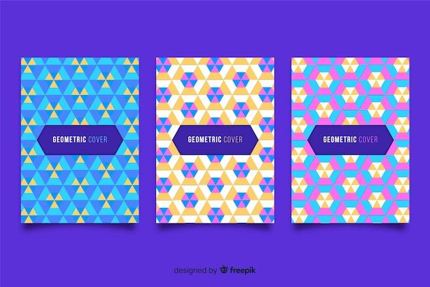 幾何学的なデザインのカバー 無料ベクター