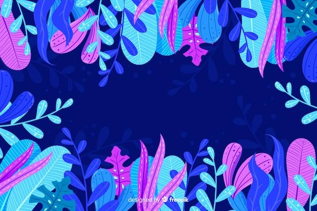 手描きの抽象的な花の背景 無料ベクター