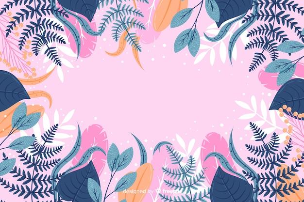 Красочные рисованной абстрактный цветочный фон Бесплатные векторы