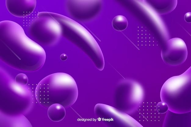 現実的な液体効果紫色の背景 無料ベクター