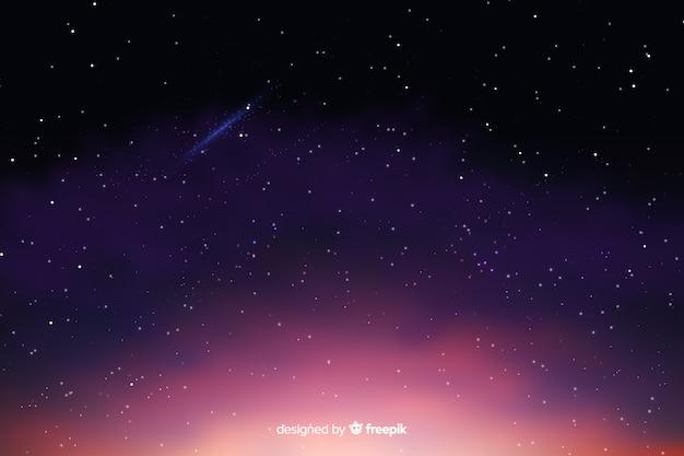 Градиентный фон звездной ночи Бесплатные векторы
