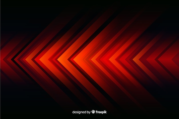 Абстрактный фон геометрические красные огни Бесплатные векторы