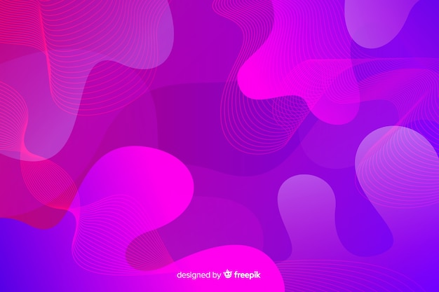 Художественный современный поток дизайн фона Бесплатные векторы