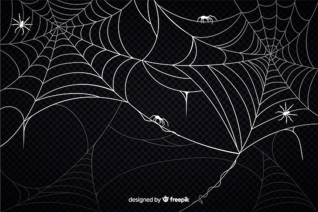 ハロウィーンクモの巣の背景 無料ベクター