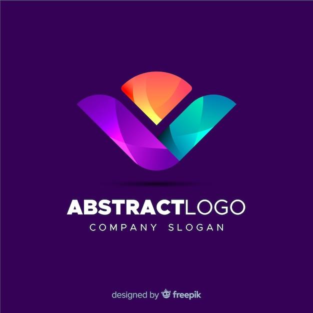カラフルな抽象的なロゴのテンプレート 無料ベクター