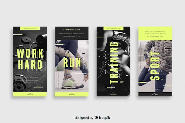 Сборник спортивных историй Бесплатные векторы
