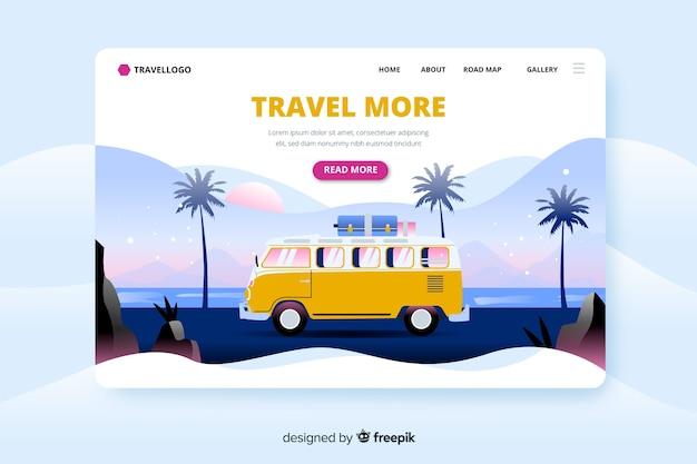 Шаблон путешествия целевой страницы Бесплатные векторы