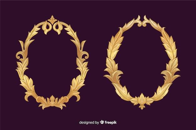 Старинный декоративный логотип Бесплатные векторы
