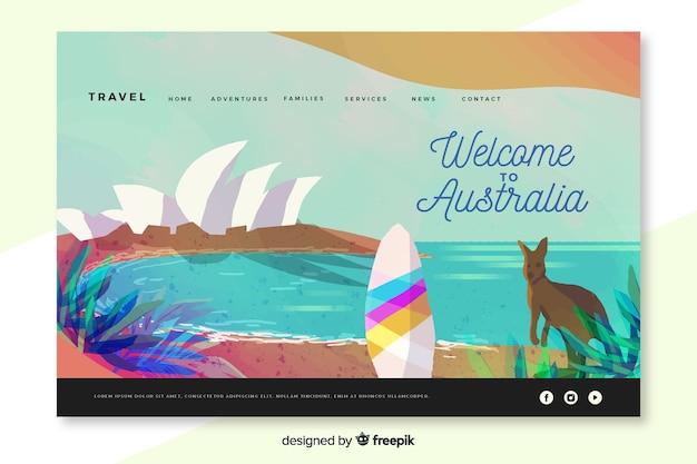 オーストラリアのランディングページへようこそ 無料ベクター
