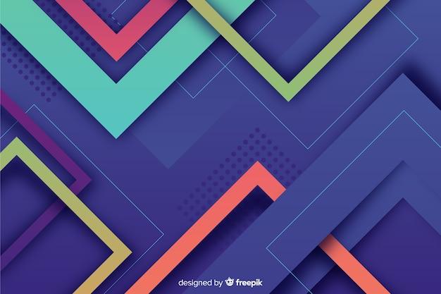 Фон красочных геометрических фигур Бесплатные векторы