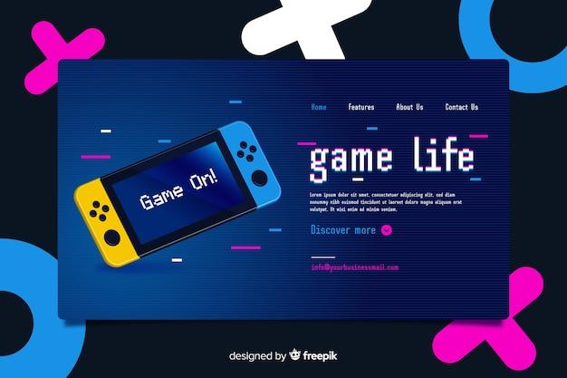 ビデオゲームメンフィススタイルのリンク先ページ 無料ベクター