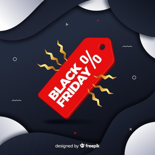 Градиентная черная пятница с красной этикеткой Бесплатные векторы