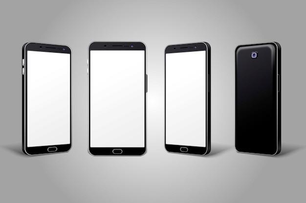 Рамка мобильного телефона с пустыми шаблонами Бесплатные векторы