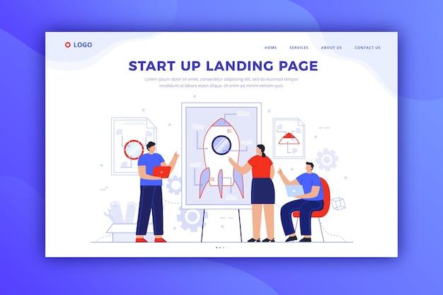 Дизайн стартовой целевой страницы для шаблона Бесплатные векторы