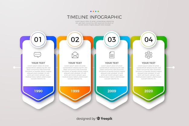 Градиент времени инфографики Бесплатные векторы