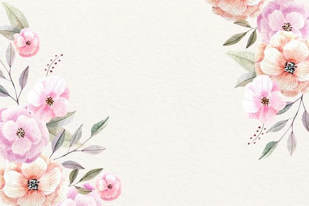 Акварель цветочный фон с мягкими цветами Бесплатные векторы