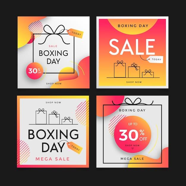 День подарков продажа инстаграм пост коллекция Бесплатные векторы