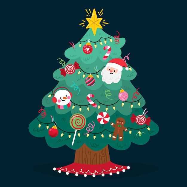Фон рождественская елка Бесплатные векторы
