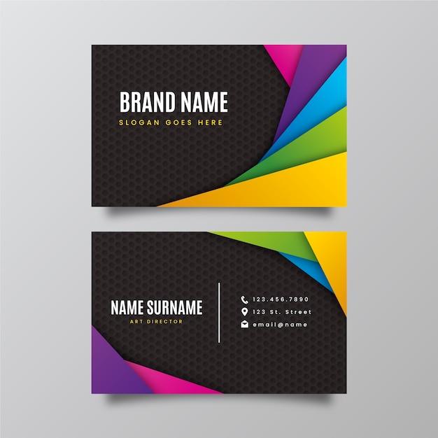 Абстрактный красочный шаблон визитной карточки Бесплатные векторы