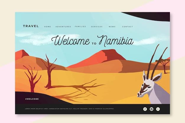 ナミビアのランディングページへようこそ 無料ベクター
