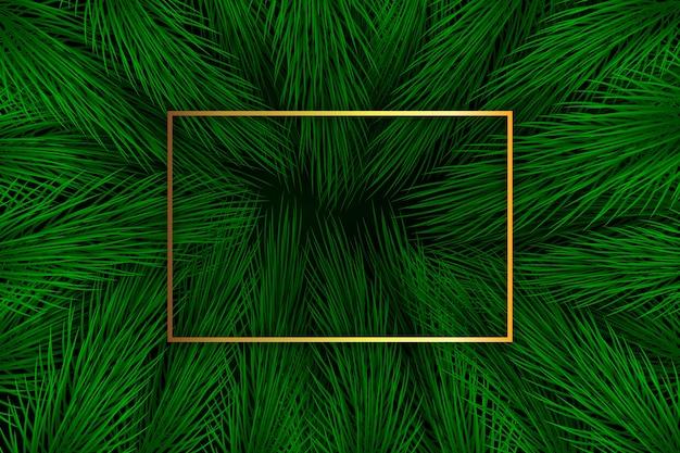 現実的なクリスマスツリーの枝の背景 無料ベクター