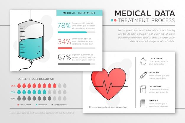 Медицинское здравоохранение инфографики Бесплатные векторы
