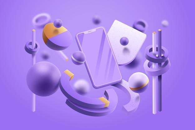 Концепция графического дизайна в пастельных тонах Бесплатные векторы
