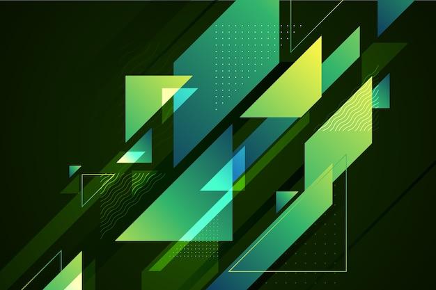 抽象的な幾何学的な緑の背景 無料ベクター