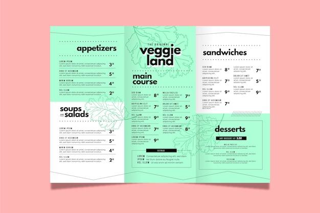 Шаблон красочного меню ресторана Бесплатные векторы