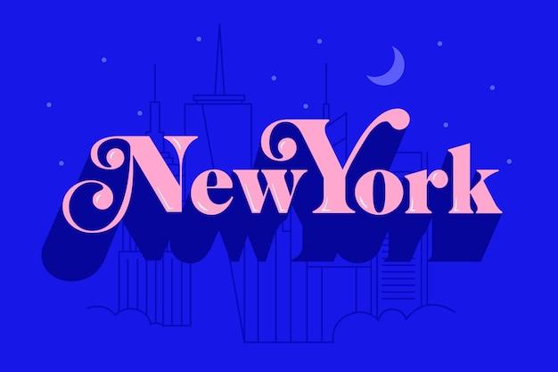 ニューヨーク市のレタリング 無料ベクター