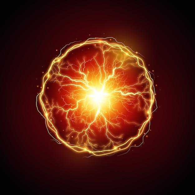 Электрический шар световой эффект Бесплатные векторы