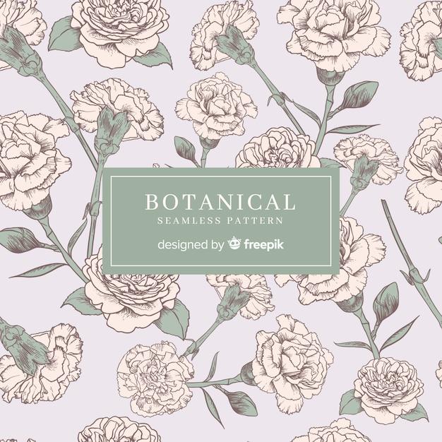 Винтажный ботанический узор Бесплатные векторы